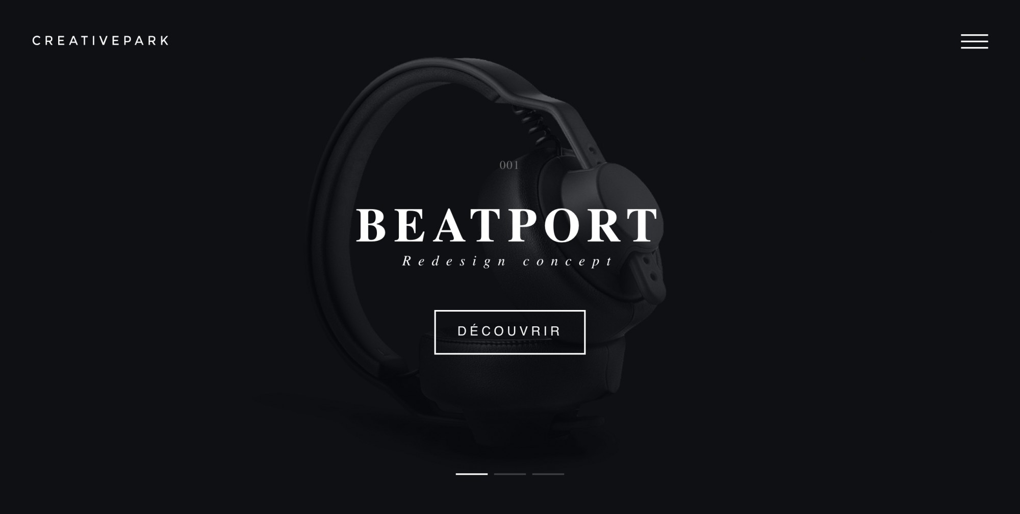 beatport landing where key message and CTA are highlighted with color contrast