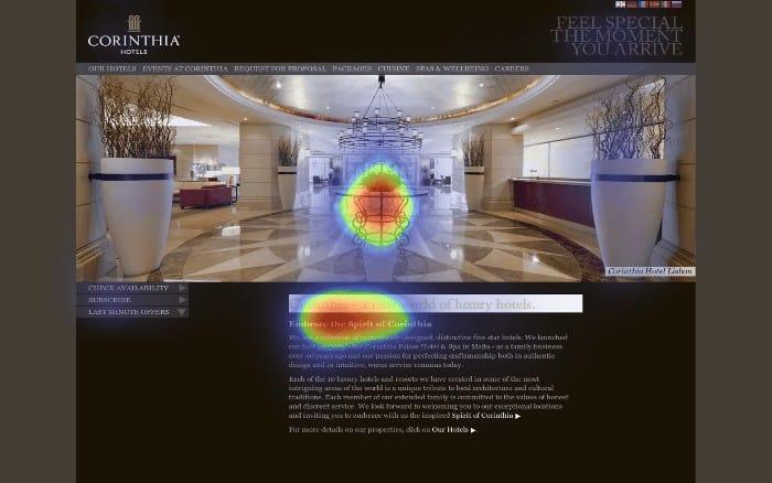 predictive eye-tracking heatmap
