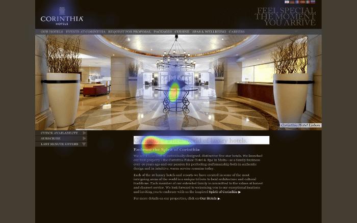 eye-tracking heatmap