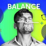 image of a man balancing pencil on his lips