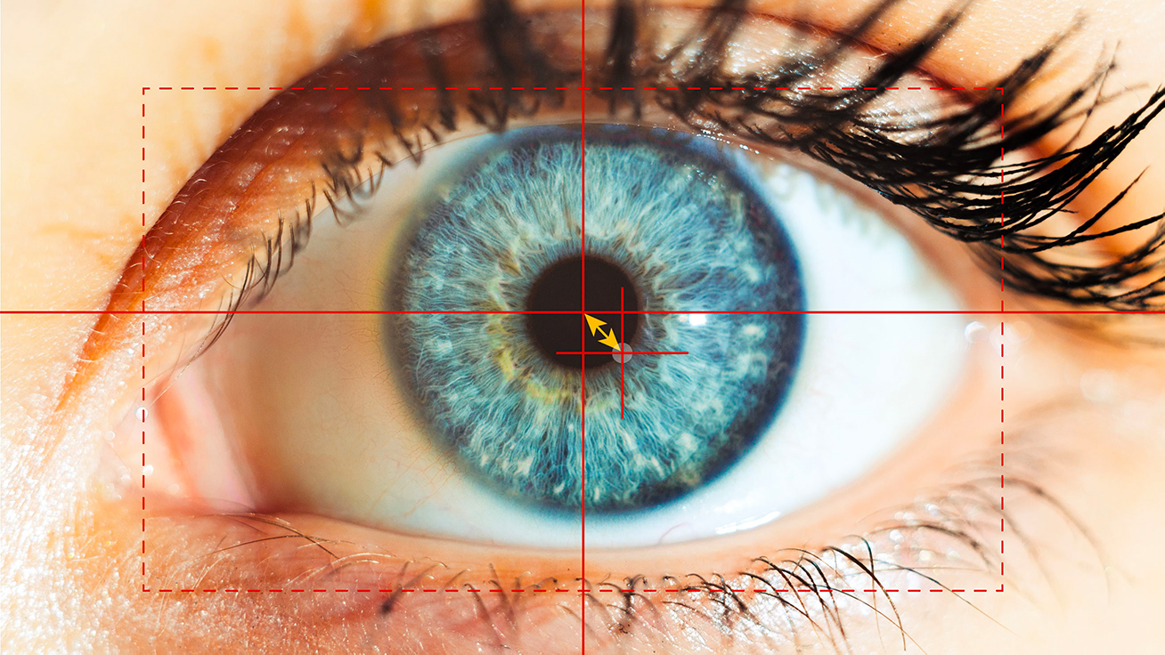Optical eye-tracking – vector between the center of the pupil and the reflection in the cornea