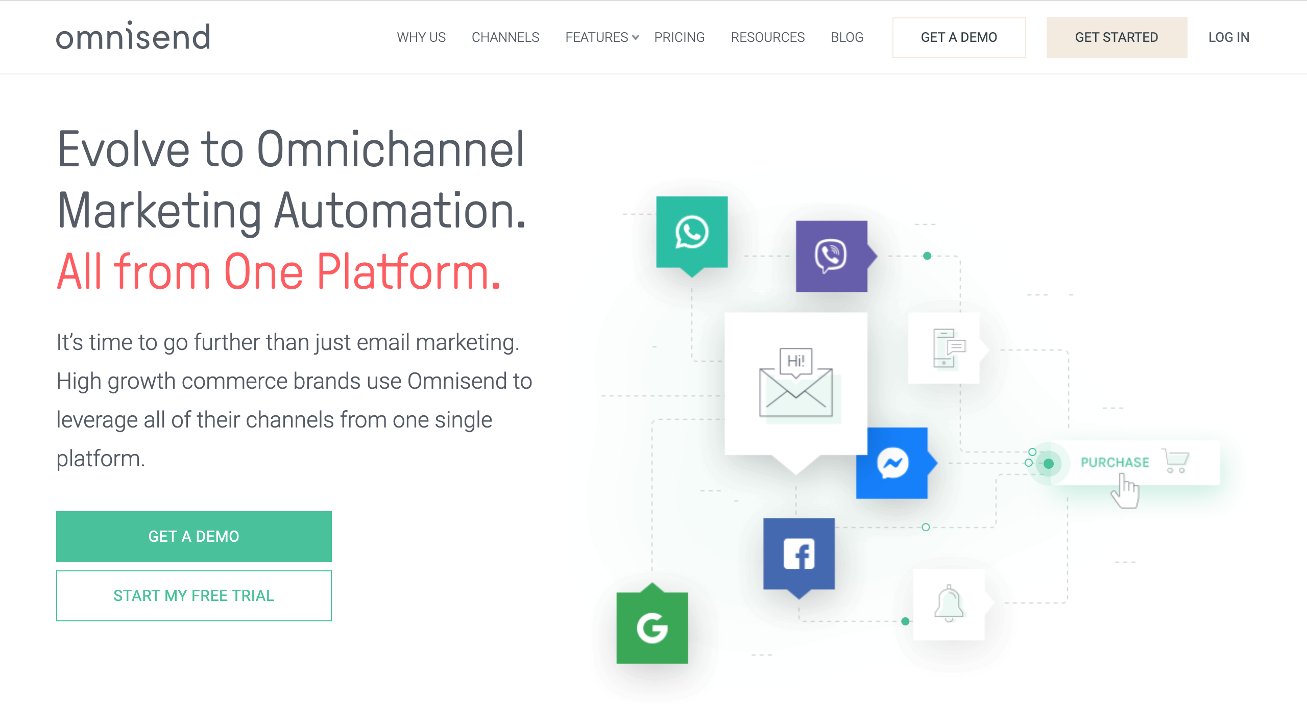 Omnisend Landing Page